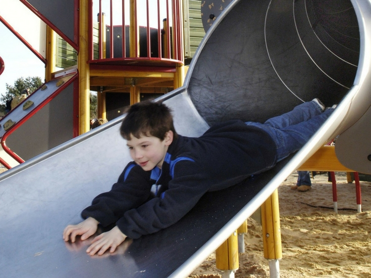 Fun on the slide