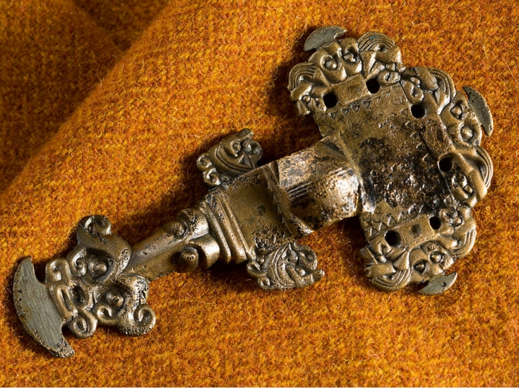 Bronze Cruciform Brooch