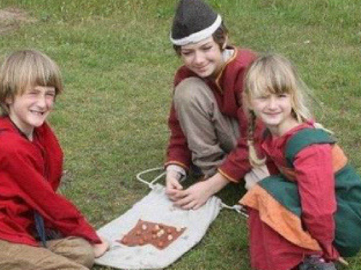 Children playing Saxon games