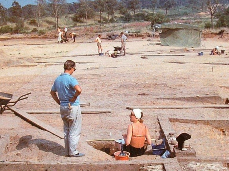 Excavating the land in 1970s